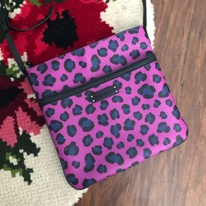VeraBradley Vegan Leather Purple Cheetah Crossbody